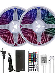 cheap -32.8ft 10M LED Strip Lights RGB Tiktok Lights Waterproof 600LEDs SMD 5050 with 44 Keys IR Remote Controller and 100-240V Adapter for Home Bedroom Kitchen TV Back Lights DIY Deco