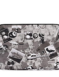 cheap -11.6 12 13.3 14 15.6 Inch Laptop Sleeve Polyester Cartoon Character Panda For Women Pink Waterpoof Shock Proof
