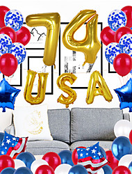 cheap -Balloon 4th / Fourth of July Independence Day Labor Day 57 pcs All Hand-made for Party Favors Supplies or Home Decoration / Kids