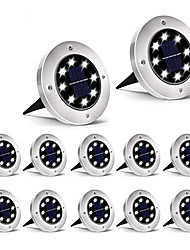 cheap -12pcs 8pcs 4pcs1pcs Solar Powered Ground Light Waterproof Garden Pathway Deck Lights With 8LED Lamp for Home Yard Driveway Lawn Road
