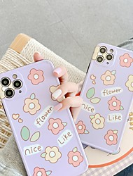 cheap -Case For Apple Shockproof / Pattern Full Body Cases Flower TPU