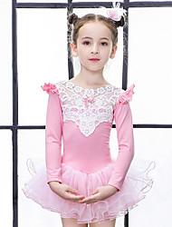 cheap -Girls' More Costumes Ballet Dance Party Costume Princess Vacation Dress Cotton Mauve Pink Blue Dress / Kid's