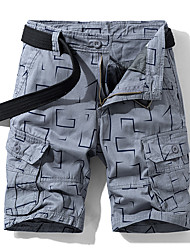 cheap -Men's Hiking Shorts Outdoor Standard Fit Sweat-wicking Elastane Cotton Shorts Beach Traveling Black Army Green Grey 30 32 34 36 38
