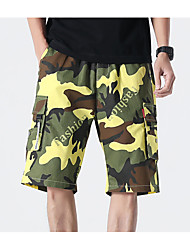 cheap -Men's Basic Daily Holiday Shorts Tactical Cargo Pants - Camouflage Drawstring Breathable White Blue Orange XS / US32 / UK32 / EU40 / S / US34 / UK34 / EU42 / M / US36 / UK36 / EU44