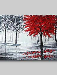 cheap -Oil Painting Hand Painted Abstract Abstract Landscape Comtemporary Modern Roll Canvas Black Red Rolled Without Frame