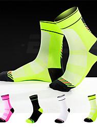 cheap -Compression Socks Athletic Sports Socks Cycling Socks Women's Men's Bike / Cycling Warm Quick Dry Breathable 1 Pair Winter Chinlon Elastane White Black Fuchsia M L / Athleisure / Mountain Bike MTB