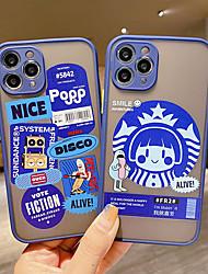 cheap -iPhone11Pro Max Fine Pore Skin Feel Blue Label Phone Case XS Max Translucent Matte 6/7 / 8Plus / SE 2020 Protective Case