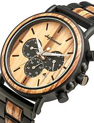 cheap -Men's Sport Watch Quartz Modern Style Stylish Fashion Water Resistant / Waterproof Wooden Analog Black Brown / Japanese / Japanese