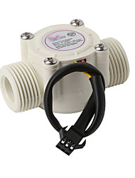 cheap -Water Flow Meter Sensor Counter Indicator float switch Hall for water heaters G1/2 1-30L/min DN15