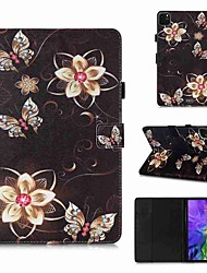 cheap -Case For Apple iPad Pro 11''(2020) / iPad 2019 10.2 / Ipad air3 10.5' 2019 Wallet / Card Holder / with Stand Golden Flower Butterfly PU Leather / TPU for iPad Air / iPad 4/3/2 / iPad (2018)