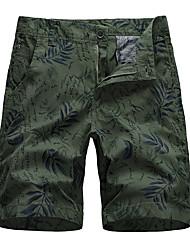 cheap -Men's Basic Daily Holiday Chinos Shorts Pants - Plants Print Breathable Black Army Green Khaki S / US34 / UK34 / EU42 / M / US36 / UK36 / EU44 / XL / US40 / UK40 / EU48