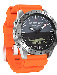 cheap -NORTH EDGE Men's Sport Watch Digital Modern Style Sporty Casual Water Resistant / Waterproof Analog Digital Analog - Digital Black Blue Orange / One Year / Stainless Steel / Silicone / Japanese