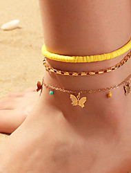 cheap -Leg Chain Classic Rustic Trendy Women's Body Jewelry For Gift Holiday Link / Chain Alloy Butterfly Gold 3pcs