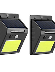abordables -BRELONG® 2pcs 8 W Luz de pared solar Impermeable / Alimentado por Energía Solar / Sensor de infrarrojos Blanco Fresco 3.7 V Iluminación Exterior / Patio / Jardín 20 Cuentas LED
