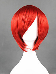 cheap -Cosplay Wig Akaito Vocaloid Straight Cosplay With Bangs Wig Short Red Synthetic Hair 12 inch Men's Anime Cosplay Cool Red