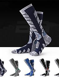 cheap -R-BAO Hiking Socks Socks 1 Pair Breathable Warm Sweat-wicking Comfortable Chinlon Elastane Autumn / Fall Spring Winter for Men's Ski / Snowboard Fishing Climbing Dark Grey Black Dark Blue / Cotton