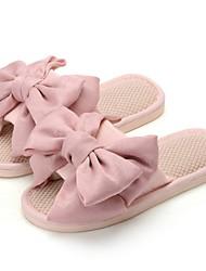 cheap -Women's Slippers & Flip-Flops Summer Flat Heel Open Toe Daily Linen Dusty Rose / Pink / Green