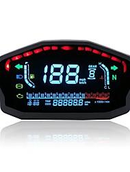 cheap -12V 14000RMP Motorcycle Digital LCD Speedometer Odometer Water Temperature Oil Gauge 2 / 4 Cylinders