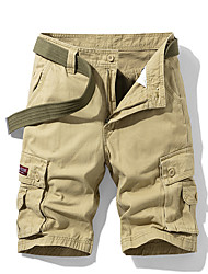 cheap -Men's Basic Daily Slim Cotton Shorts Tactical Cargo Pants - Solid Colored Sporty Breathable Summer Blue Army Green Khaki XS / US32 / UK32 / EU40 / S / US34 / UK34 / EU42 / M / US36 / UK36 / EU44