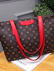 cheap -Women's Zipper Polyester Top Handle Bag Black / Red / Beige