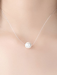 cheap -Women's Pendant Necklace Necklace Dainty Simple Basic Elegant Freshwater Pearl White 45 cm Necklace Jewelry For Anniversary Masquerade Birthday Party Beach Festival
