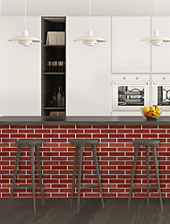 cheap -Red brick pattern PVC simulation self-adhesive DIY decorative wall stickers bar stickers