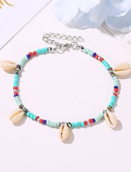 cheap -Leg Chain Rustic Bohemian Trendy Women's Body Jewelry For Party Evening Gift Classic Shell Alloy Lucky Silver 1 Piece