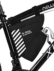 cheap -1.5 L Bike Frame Bag Top Tube Multifunctional Reflective Cycling Bike Bag Terylene Bicycle Bag Cycle Bag Outdoor Exercise
