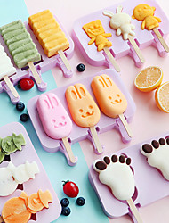 cheap -Popsicle Mold Silicone Ice Cream Mold Popsicle Molds DIY Homemade Cartoon Ice Cream Popsicle Ice Pop Maker Mould Reusable Easy Release