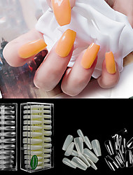 cheap -1 set ABS Glossy Ergonomic Design Multi Function Simple Basic Office / Career Daily Artificial Nail Tips for Finger Nail / White Series