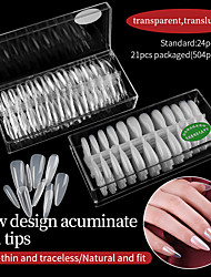 cheap -1 Set False Nails ABS Glossy Ergonomic Design Creative Simple Basic Office / Career Daily Artificial Nail Tips for Finger / White Series