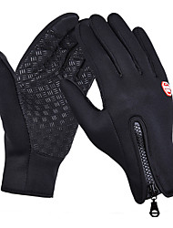 cheap -Bike Gloves / Cycling Gloves Touch Gloves Waterproof Waterproof Zipper Fitness Full Finger Gloves Sports Gloves Lycra Black for Adults' Outdoor Exercise Cycling / Bike