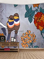 economico -dipinto a mano birdie stampato arazzo decor wall art tovaglie copriletto coperta da picnic spiaggia tiro arazzi colorato camera da letto sala dormitorio soggiorno sospeso