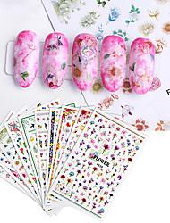 cheap -1 pcs Full Nail Stickers Bird / Flower nail art Manicure Pedicure Ergonomic Design / Creative Elegant / Cute Party / Evening / Daily