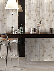cheap -Simulation Fir Grain Floor Stickers Color Wall Stickers Pvc Waterproof Wear-resistant Thickened Stickers Brown Wood Grain