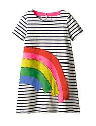 cheap -Kids Little Girls' Dress Cartoon Rainbow Dresses