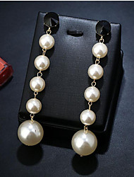 cheap -Women's Pearl Drop Earrings Geometrical Fashion Stylish Imitation Pearl Earrings Jewelry White For