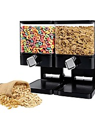cheap -Household Sealed Double Grain Storage Machine Dry Food Snacks Storage Tank Multi-function Nut Cereal Storage Machine