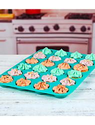 cheap -24 Cups Silicone Muffin Cupcake Baking Pan Non-Stick Dishwasher Microwave Safe Silicone Baking Mold