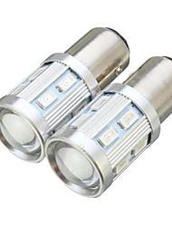 Недорогие -Bay15d 1157 светодиодные 12led лампочка автомобильного тормоза хвост задний стоп-сигнал лампы лампы 9 Вт 12 В