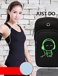 cheap -Phone Armband Running Armband for Running Hiking Outdoor Exercise Traveling Sports Bag Adjustable Waterproof Portable Waterproof Material Men's Women's Running Bag Adults