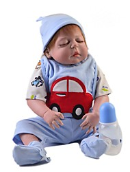 cheap -Reborn Baby Dolls Clothes Reborn Doll Accesories Cotton Fabric for 22-24 Inch Reborn Doll Not Include Reborn Doll Car Soft Pure Handmade Boys' 5 pcs