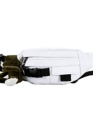 cheap -Unisex Bags Canvas Fanny Pack Zipper Solid Color 2020 Daily White Black