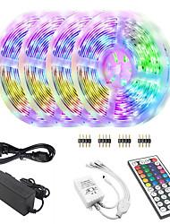 Недорогие -KWB Bluetooth светодиодные полосы света 5050 20 м (4 х 5 м) 600 светодиодов RGB для управления смартфонами для дома&усилитель, усилитель
