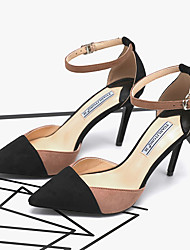 cheap -Women's Heels Summer Pumps Pointed Toe Daily Suede Pink / Gray