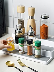 cheap -3-Tier Spice Rack Plastic Waterproof and Non Skid Multifunctional Shelf for Kitchen