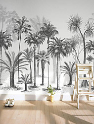 cheap -Custom Self-adhesive Mural Black and White Tree Picture Suitable for Background Wall Restaurant Bedroom Hotel Wall Decoration Art