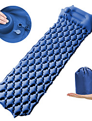 cheap -Air Pad Outdoor Camping Anti-Slip Wearable Sweat-Wicking Nylon 190*5*58 cm for 1 person Climbing Camping / Hiking / Caving Traveling Spring Summer Dark Green Sky Blue Blue / Self-Inflating