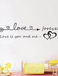 cheap -Love Proverbs Wall Stickers Words Quotes Wall Stickers Decorative Wall Stickers PVC Home Decoration Wall Decal Wall Decoration 1pc 17*57cm