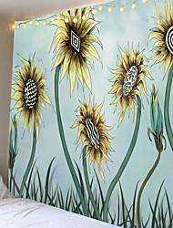 tanie -kreskówka gobelin słonecznikowy lub tkanina tła lub tkanina dekoracyjna z włókna poliestrowego